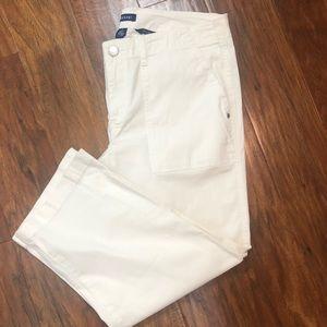 Bandolino Tanya White Capri Back Snap Pockets 8